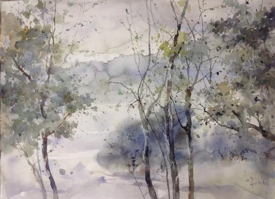 雨后小屋_風景篇(1)Landscape series – Bonding Art